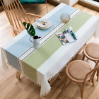 Dust-Proof Tablecloth Rectangle Cotton Linen Table Cover for Home Decoration