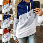 Adult Women Polyester Hoodie Hooded Striped Drawstring Jacket Tops Activewear