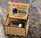 Personalised Message Quote Wife Wind Up Wooden Music Box Boxes Vintage Toy Gifts