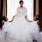 Lace AppliquesVintage Ball Gown Wedding Dresses  Beaded White Ivory Plus Size