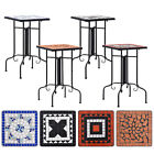 Garden Mosaic Side End Table Ceramic Bistro Outdoor Bar Table Patio Display New