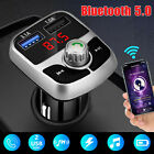 Bluetooth 5.0 Wireless Adapter FM Transmitter MP3 Radio Car Kit 3.1A USB Charger