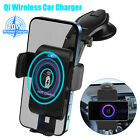 2 in 1 Qi Wireless Car Phone Charger Holder Fast Charging Stand w/Telescopic Arm