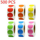 Coloured Dot Stickers Round Sticky Dots Adhesive Circles Labels 1INCH 10 Colors