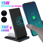For iPhone Samsung Air Pod 15W Qi Wireless Charger Phone Fast Charging Stand Pad