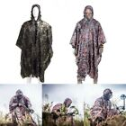 3D Leaves Sniper Ghillie Suit Woodland Camouflage Hunting Cloak Tactical Poncho