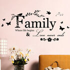 Art Diy Room Removable Home Decor Wall Stickers Decals Family Vinylquotesmura Js