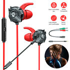 3.5mm Wired Gaming Headset Earbud Stereo Earphone Mic for PS4 Phone PC Xbox One