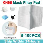 5-100pc Filters For Mask Insert Replaceable Adult Anti Haze Mouth Filter Pad Us