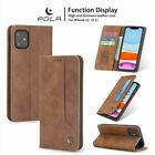 For Iphone 12 Pro Max 11 Xs 7/8/6s Plus Leather Wallet Case Card Slot Flip Cover