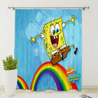 3D Spongebob Curtains 1 Panel Window Curtain Drapes with Grommets for Bedroom