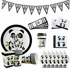 Cartoon Panda Pattern Theme Disposable Tableware Set Birthday Party Decoration K