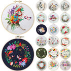 FLoral Pattern Embroidery Cross Stitch Kit for Beginners Handmade DIY Craft Gift