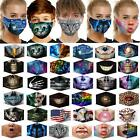 Reusable Washable Face Mask Protect Fashion Design Nose Clip Adult X2 Filters