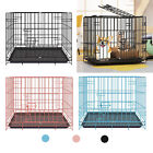 METAL PETS DOG CAGE CARRIER PET PUPPY FOLDING TRAINING CRATE TRAVEL KENNEL