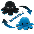 USA Black Octopus Happy Angry Flip Plush Stuffed Animal Doll Toy Birthday Gifts