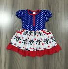 NEW Boutique 4th of July Patriotic Girls Cow Dress
