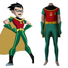 Teen Titans Robin Cosplay Costume Jumpsuit Outfits Halloween Carnival Costumes