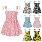 Toddler Kids Baby Girls Suspender Sleeveless Floral Dress Party Princess Dresses