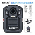 1296P 64GB Body Worn Camera Night Vision Police Security Wide Angle Belt Strap