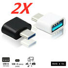 2x USB-C 3.1 Male to USB A Female Adapter-Converter OTG Type-C For Android Phone