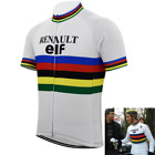 Maillot Renualt Elf Cycliste Retro Vintage Classic Cyclism Tour de France Vélo