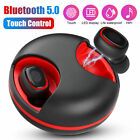 LED Bluetooth Wireless Earbuds Headset TWS Stereo Bass Touch Universal Earphones