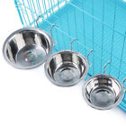 Stainless Steel Pet Hanging Bowl Feeding Dog Cat Bird Food Water Cage Cup Supply