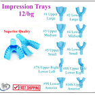 Dental Impression Trays Perforated Plastic Disposable (CHOOSE SIZE) 12 Trays/Bag