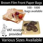Brown Clear Film Front Paper Bags Food Sandwich Pastries Cellophane Window Bag