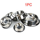 Dog Bowl Food Water With Rubber Base Puppy Pet Feeder Container Stainless Steel