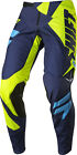 Shift Racing Flo Yellow/Navy Blue Black Label Mainline Dirt Bike Pants MX ATV