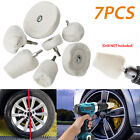 7/5X Car Polisher Polishing Buffing Pads Mop Wheel Drill Kit Aluminum Stainless