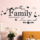 Art Diy Room Removable Home Decor Wall Stickers Decals Family Vinyl Quotes Mu^qi