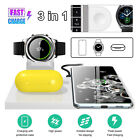 For Samsung Watch Phone Air Pods Galaxy Buds 3in1 Wireless Fast Charging Station