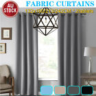 4x Blockout Curtains Thermal Blackout Curtains Fabric Pair Eyelet For Bedroom