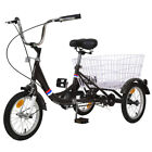 "1-Speed Tricycle Recreation Bike Teenager 3 Wheeled Bicycle 14""/16""w/big Basket"