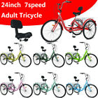 Adult Tricycles 7Speed Trikes 24