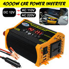 4000W Car Power Inverter DC 12V To AC 100V/220V LCD Display Adapter Dual USB A