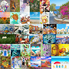 DIY Oil Painting By Number Picture Hand Painted Drawing Canvas Flower Coast Kit