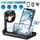 4in1 Charging Dock Station Wireless Charger for Apple Watch iPhone Air Pods2/Pro