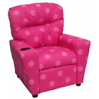 Home Theater Children'S Cotton Recliner with Cup Holder