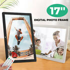 17'' Digital Picture Frame Share Photo Video HD Remote Control Touch Screen US