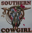 SOUTHERN COWGIRL BULL SKULL / ROSES & ROPE RODEO SHIRT #1221