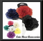 NEW LARGE 12CM SOFT SILK FLOWER CORSAGE FASCINATOR CLIP