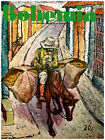 "088.Quality Home interior Design poster""Mango seller on horse down the Street"""