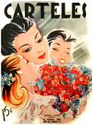 """427.Quality Interior Design poster""""Mother get LOVES from Children""""Flowers"""