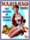 """632.Cuban Quality Design poster""""Marianao Tigers.Sexy BASEBALL pinup.Beisbol"""