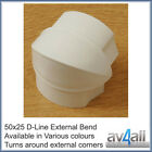 D-Line 50x25 External Bend for Cable Wire Hiding Covers