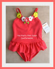 Gymboree Flower Skirted Coral Swimsuit NWT 3 4 5 6 7 8